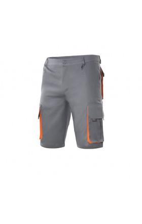 12f78847980 Bermuda bicolor multibolsillos, gris/naranja VELILLA